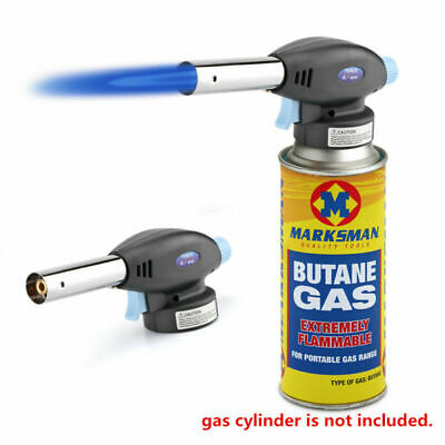 Portable Butane Gas Blow Torch Flamethrower Camping Welding BBQ Gas Torch Tool