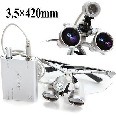 Dentist Dental Surgical Binocular Loupes With Dental Led Head Light Lamp-from Us