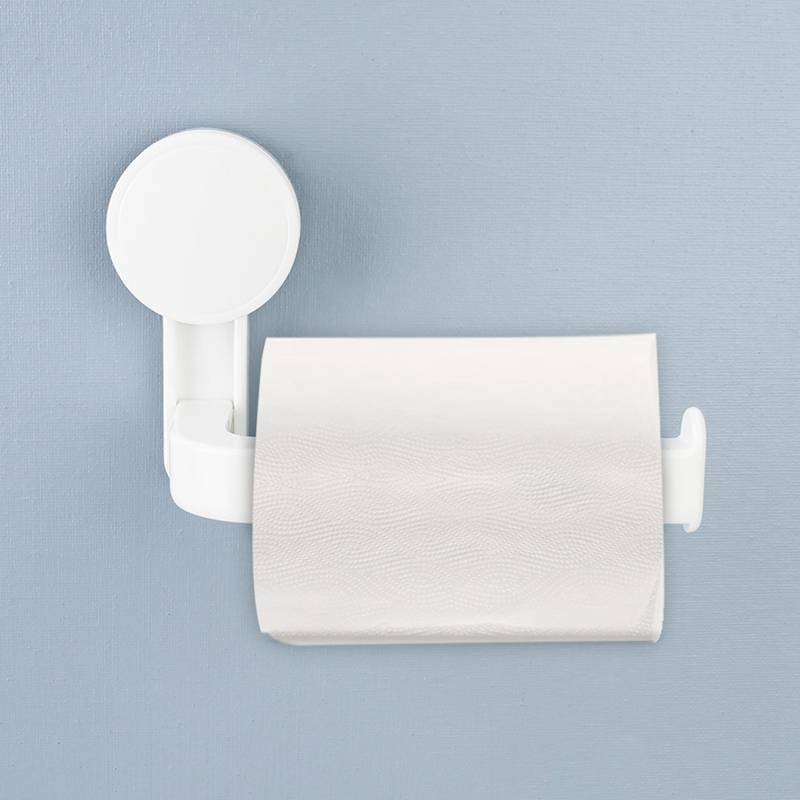 Suction Cup Toilet Paper Roll Holder Bathroom Tissue Wall Mounted Storage Useful
