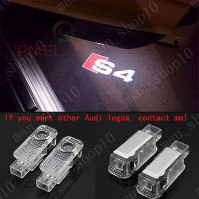 2Pcs Audi S4 LOGO GHOST LASER PROJECTOR DOOR UNDER PUDDLE LIGHTS FOR AUDI S4..