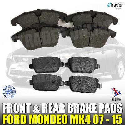 Ford Mondeo MK4 Brake Pads Front & And Rear TDCi  2007- 2015 Pad Set MK IV