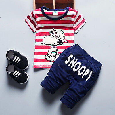 Kids Baby Boys Outfits Clothes Clothing Sets Infant Boy T-shirt + Pants Suits
