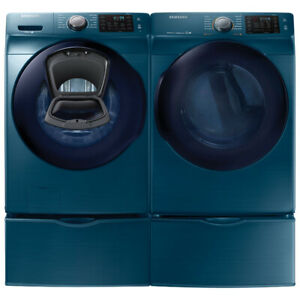 "Samsung WF45K6200AZ 27"" Front Load Washer And DV45K6200EZ Dryer"