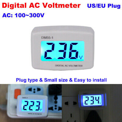 Lcd Digital Electronic Voltmeter Plug-in Home Voltage Meter Ac 110v-300v Dm55-1