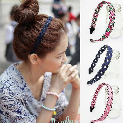 Hollow Wire Woven Hand-woven Cloth Wide-brimmed Headband Flower Print Fashion (Headband Flowers)