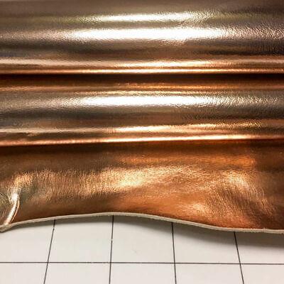 ROSE GOLD Leather Fabric Real Metallic Sheep Hide Sheet Genu