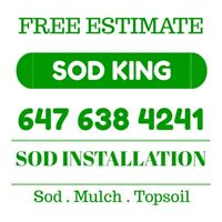 Local Sod installation 647-638-4241