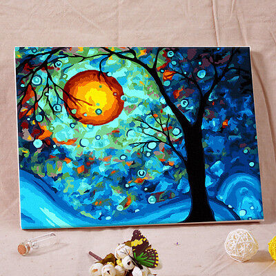 "16"" x 20"" DIY Paint By Number Kit Acrylic Painting On Canvas - Dream tree"