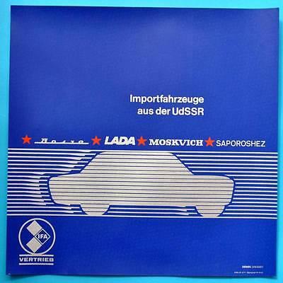 DDR Plakat Poster | IFA Wolga Lada Moskwitsch Saporoshez 50 x 50 cm Original 17