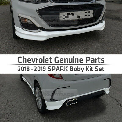 Genuine OEM Parts Front Side Rear Body Kit Set White For Chevrolet 2018-19 Spark