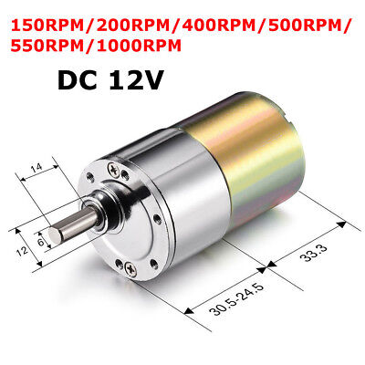 Dc 12v 2 - 1000rpm Powerful High Torque Electric Gear Box Motor Speed X