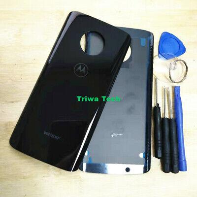 Black Xt Door (Motorola Moto G6 XT1925-12 Verizon Glass Battery Back Cover Door Panel)