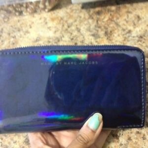 marc Jacobs holographic phone case/wallet wristlet brand new
