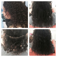 Hair extensions application starting at $45 hair included