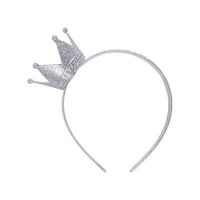 Krone auf Stirnband Silber, Abendkleid-Partei-Kostüm-Zusatz (Silber Stulpen Kostüm)