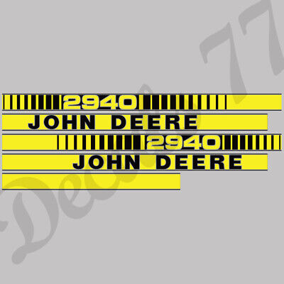 John Deere Tractor 2940 Hood Decals Stickers Set