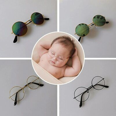 Newborn Photography Props Vintage Baby Round Glasses Sunglasses Studio (Photography Sunglasses)