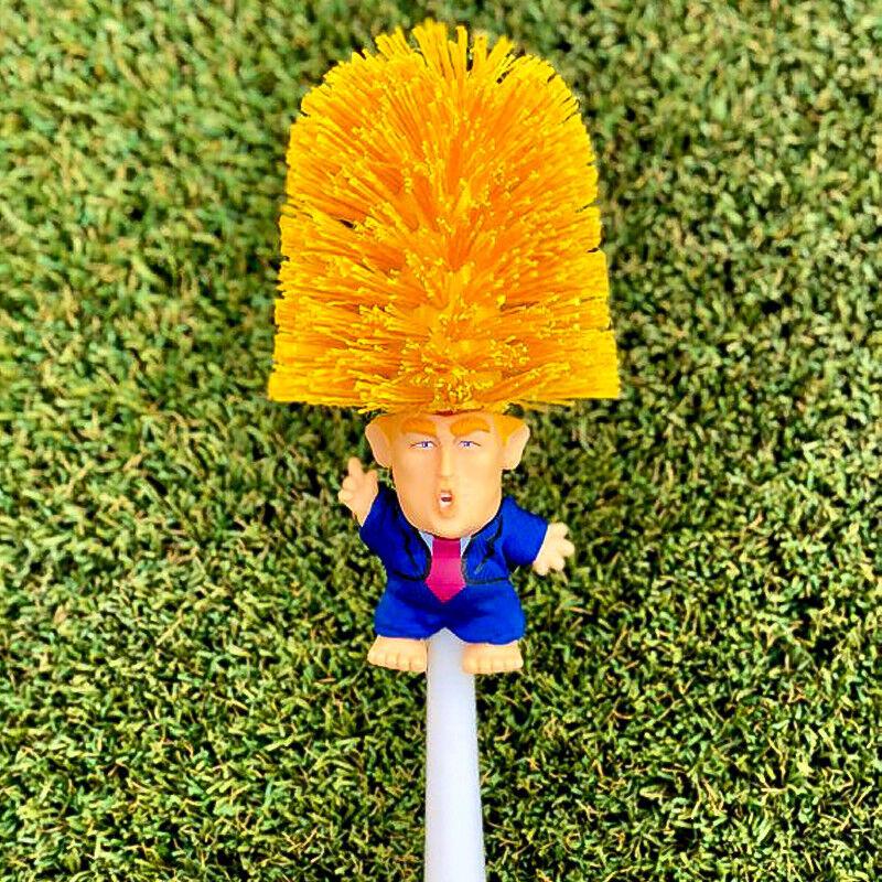 US Donald Trump hand made Toilet Bowl Brush Funny Gag Gift Christmas Xmas KY