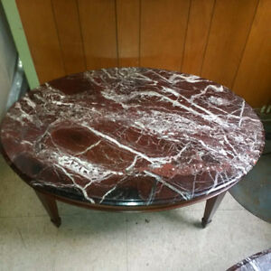 Marble and cherry wood coffee table Cambridge Kitchener Area image 1