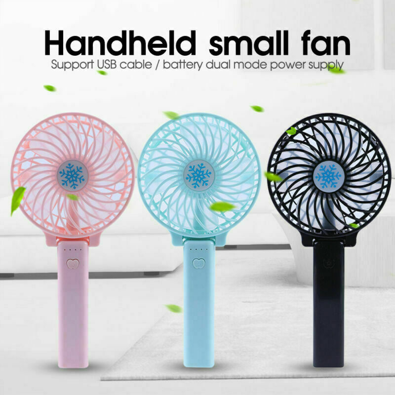 Mini Fan Cooler Hand-held Cooling USB Chargeable Air Conditi