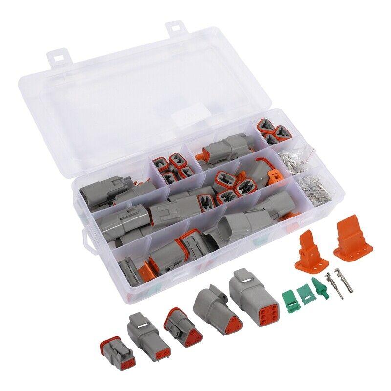 250Pcs Deutsch DT Series Waterproof Wire Connector Kit DT06-2/3/4/6S DT04-2/3/4/