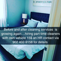 Seeking RELIABLE, dedicated, hard working cleaners