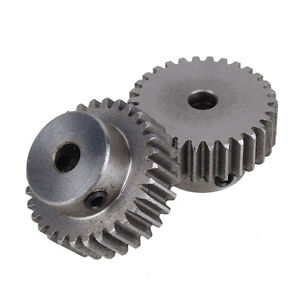2Pcs Module 1 30 Teeth 6mm Hole Diameter Steel Metal Motor Gear For Hardware Top