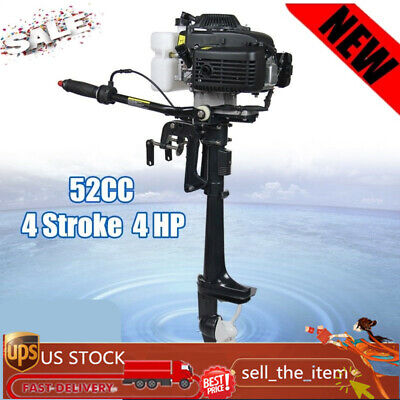 52cc 4 Stroke 4 Hp Outboard Motor Boat Engine Heavy Duty W Air Cooling System