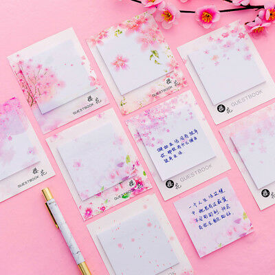 Cherry Scrapbooking Paper - 2 Packs Cherry Blossoms Writable Paper Stickers Set DIY Scrapbooking Sticky Note