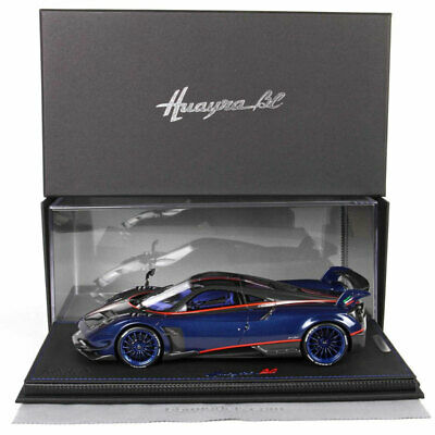 BBR 1:18 Scale Pagani Huayra BC Carbon Fibre Blue Car Model Limited Collection