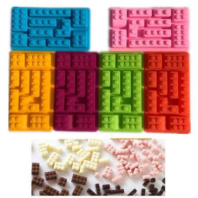 Silicone 10 Holes Lego Brick Blocks DIY Mold Ice Cube Tray Cake Tools Random HOT