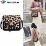 Leopard Print Crossbody Shoulder Messenger Bags Women Leather Sling Satchel Bag