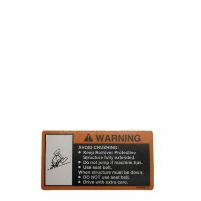 John Deere Lvu10709 Roll Gard Label - 4200 4300 4400 4500 4600 4700 3033r 3039r