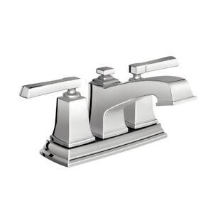 Moen WS84800 Two-Handle Low Arc Bathroom Faucet, Chrome