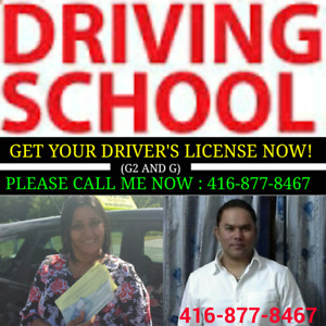 Driving Instructor, Driving lesson, Road Test : 416-877-8467.