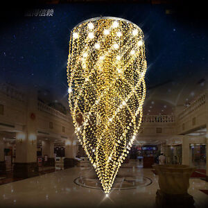 CRYSTAL Chandeliers Classic Style, golden color,with LED bulbs