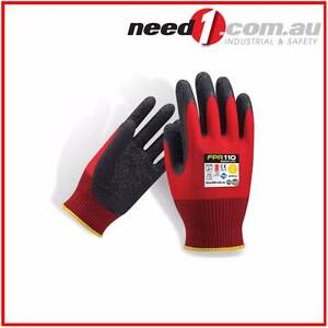 6 X Force360 Redback Latex Safety Gloves Chipping Norton Liverpool Area Preview