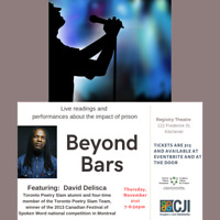 Beyond Bars:  Live readings and performances about prison