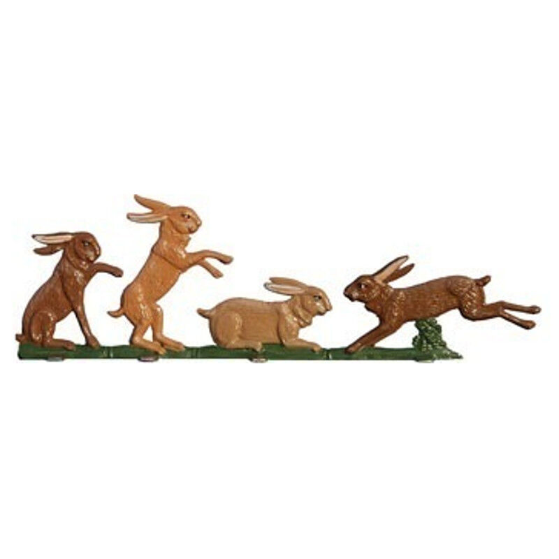 Playing rabbits, made of pewter - Wilhelm Schweizer -