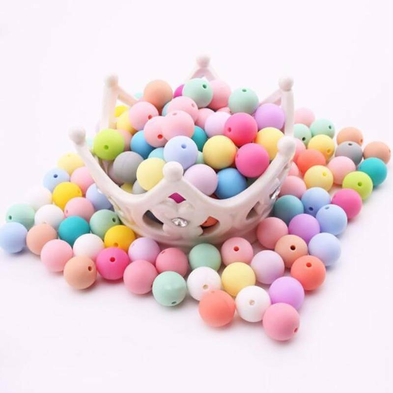 BPA Free DIY Beads Baby Teethers 15Mm Accessories Balls Infa