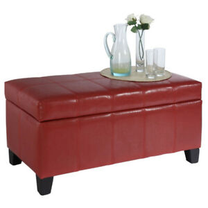 Red Storage Bench Ottoman | Kijiji in Ontario. Buy, Sell