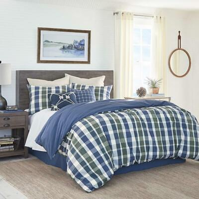 Southern Tide Royal Pine Blue & Green Plaid 3 Piece King Comforter Set MSRP NWT