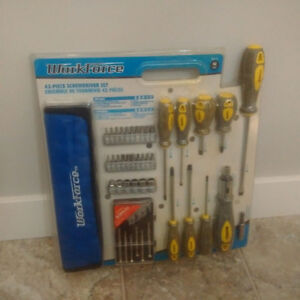 Workforce 43 piece screwdriver set