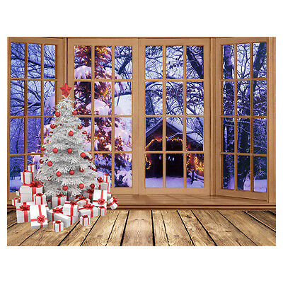 Christmas photography photo prop Studio background Vinyl backdrop 7X5FT ED