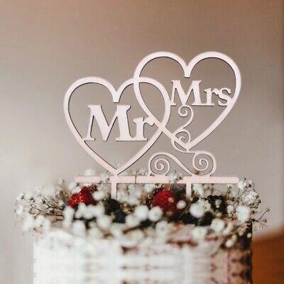 Hochzeitstorte holz Topper Mr & Mrs deko