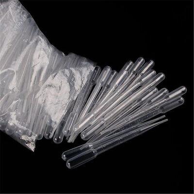 1 Bag 100pcs 3ml Disposable Plastic Eye Dropper Set Transfer Graduated Pipettes
