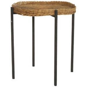 Vintage Seagrass or Wicker Plant Stand