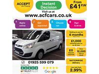 2013 WHITE FORD TRANSIT CUSTOM 2.2 TDCI 125 290 SWB TREND CAR FINANCE FR £41 PW