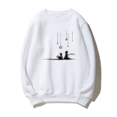 New Le Petit Prince Little Prince Cosplay Costume White Gray Hoodie T-shirt