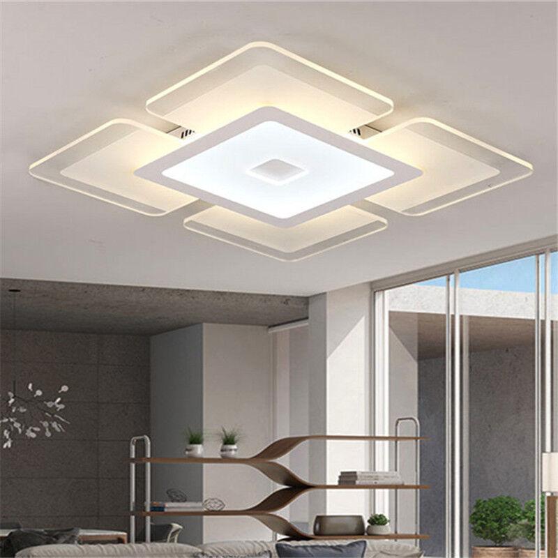 Modern Ceiling Light For Living Room: Rectangular Acrylic Modern LED Ceiling Light Living Room